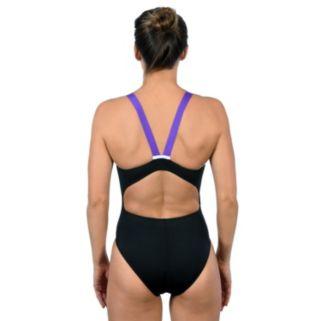 Women's Dolfin Ocean Panel High Performance Colorblock One-Piece Swimsuit