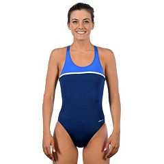 Women's Dolfin Ocean Panel High Performance Colorblock One-Piece Swimsuit