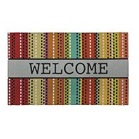 Mohawk® Home Doodle Stripes ''Welcome'' Doormat - 18'' x 30''