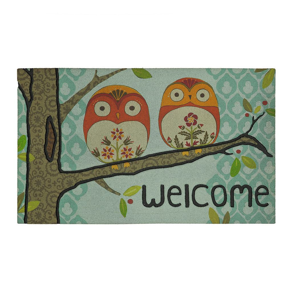 Mohawk® Home Forest Owl ''Welcome'' Doormat - 18'' x 30''