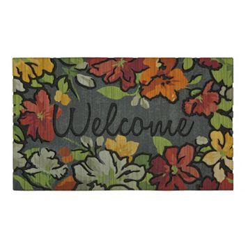 Mohawk® Home Water Garden Floral ''Welcome'' Doormat - 18'' x 30''