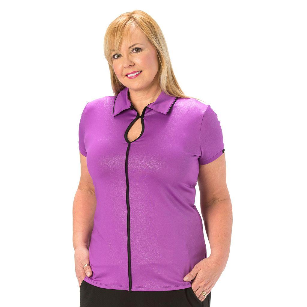 Plus Size Nancy Lopez Easy Short Sleeve Golf Polo