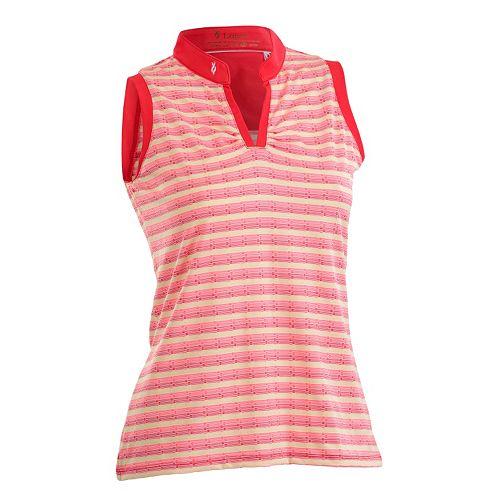 Plus Size Nancy Lopez Dizzy Sleeveless Golf Polo