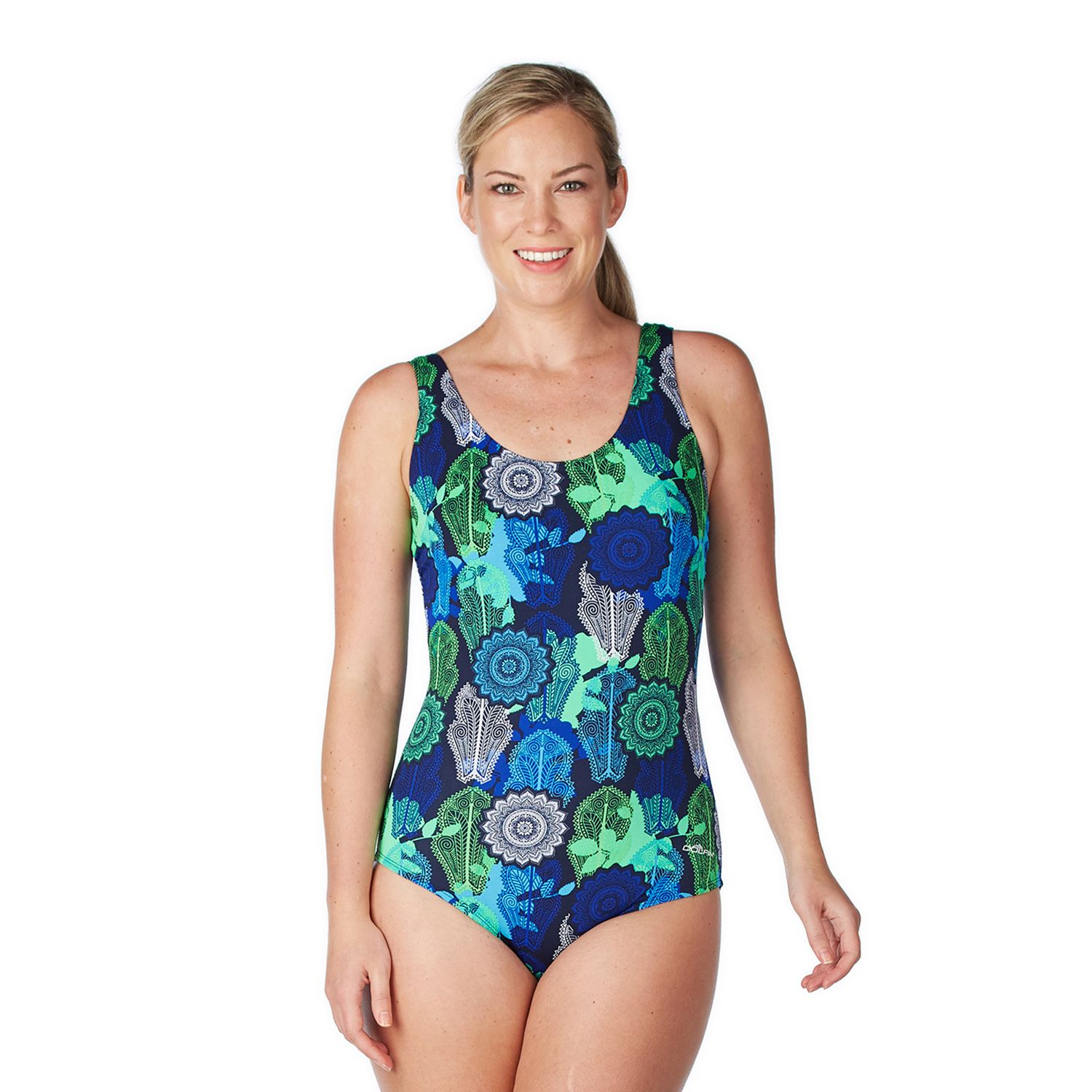 Womens Dolfin Moderate Scoopback One-Piece Swimsuit