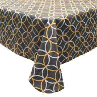 Hotel Circles Peva Flannel-Back Tablecloth