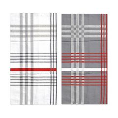 Hotel Orange Plaid Jumbo Kitchen Towel 2-pk.