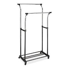 Whitmor Adjustable Rolling Double Garment Rack