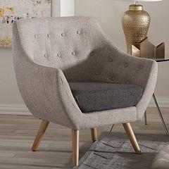 Baxton Studio Astrid Mid-Century Armchair
