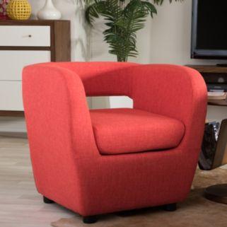 Baxton Studio Ramon Mid-Century Modern Lounge Accent Chair