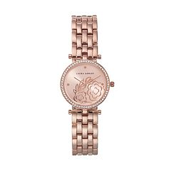 Laura Ashley Women's Crystal Floral Watch