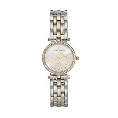 Laura Ashley Women's Crystal Floral Watch