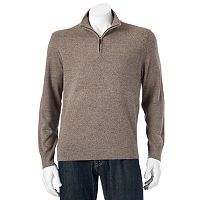 Men's Dockers Classic-Fit Marled Comfort Touch Quarter-Zip Sweater