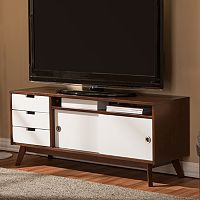 Baxton Studio Alphard Two-Tone TV Cabinet