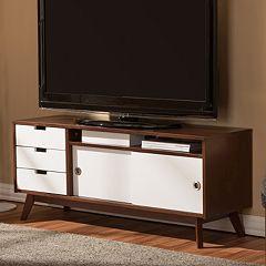 Baxton Studio Alphard Two-Tone TV Cabinet