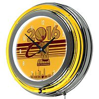 Cleveland Cavaliers 2016 NBA Champions Chrome Double-Ring Neon Wall Clock