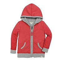 Baby Boy Burt's Bees Baby French Terry Reversible Zip-Up Hoodie