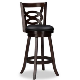Baxton Studio Anthea Swivel Bar Stool 2-piece Set