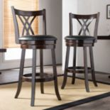 Baxton Studio Bloomfield Swivel Bar Stool 2-piece Set