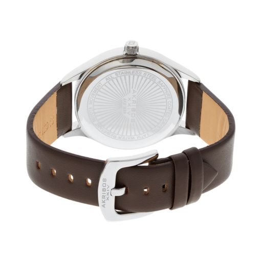 Akribos XXIV Men's Leather Watch - AK618BR