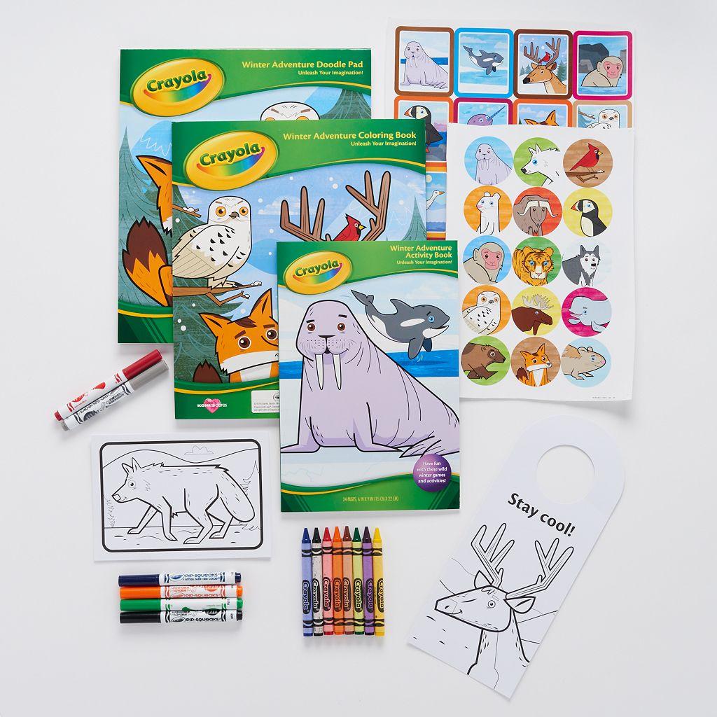 Kohls CaresR Crayola Winter Adventure Holiday Coloring Kit