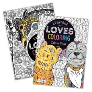 Everyone Loves Coloring Animal 2-pk. Adult Color Books by Bendon