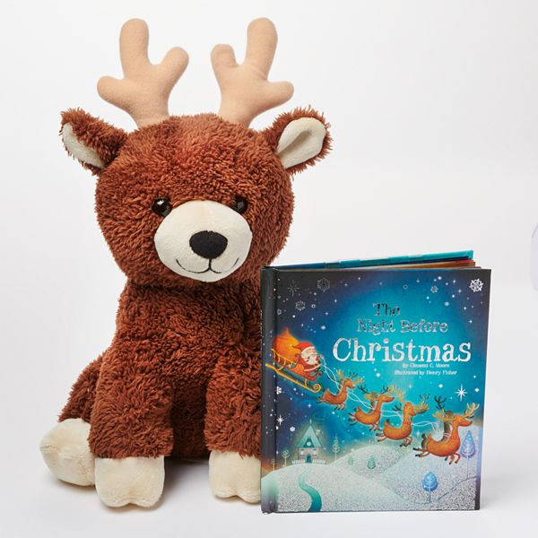 Kohl S Cares The Night Before Christmas Mini Book Reindeer Plush 2 Piece Set