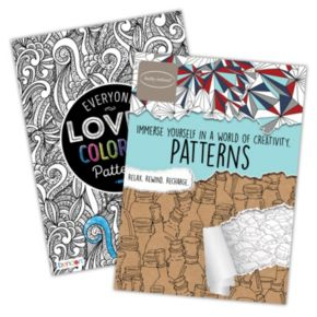 Everyone Loves Coloring Patterns 2-pk. Adult Color Books by Bendon