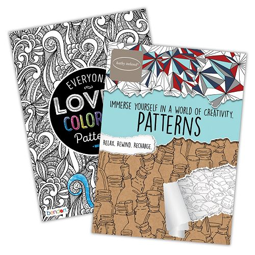 Everyone Loves Coloring Patterns 2 Pk Adult Color Books By Bendon
