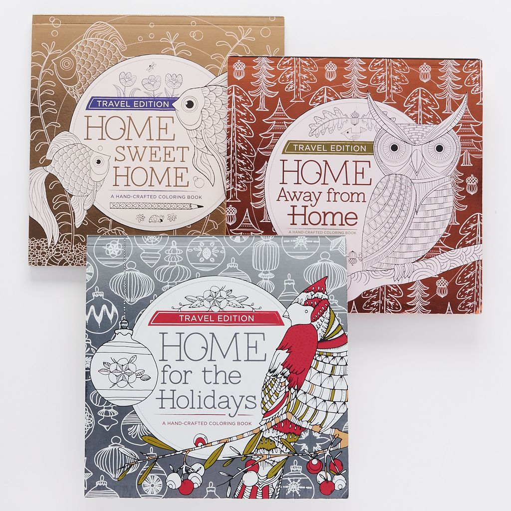 Coloring books for adults kohls - Kohl S Cares Home Coloring Series Travel Edition Adult Coloring Book 3 Piece Set