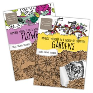Kathy Ireland Gardens & Flowers 2-pk. Adult Color Books by Bendon