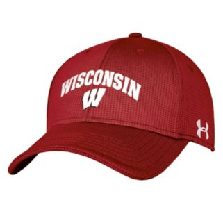 Adult Under Armour Wisconsin Badgers Blitzing Stretch-Fit Cap