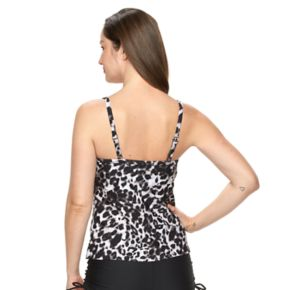 Women's Croft & Barrow® Push-Up Leopard Tankini Top