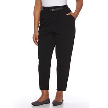 Plus Size AB Studio Textured Pull-On Pants