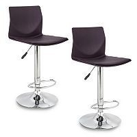 Leick Furniture Clad Adjustable Swivel Stool 2-piece Set