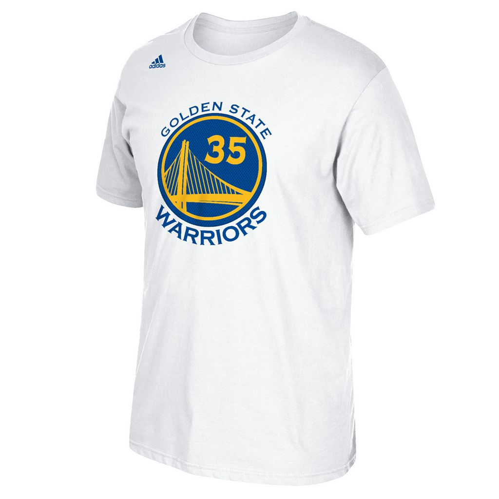 Men's adidas Golden State Warriors Kevin Durant Player Name and Number Tee