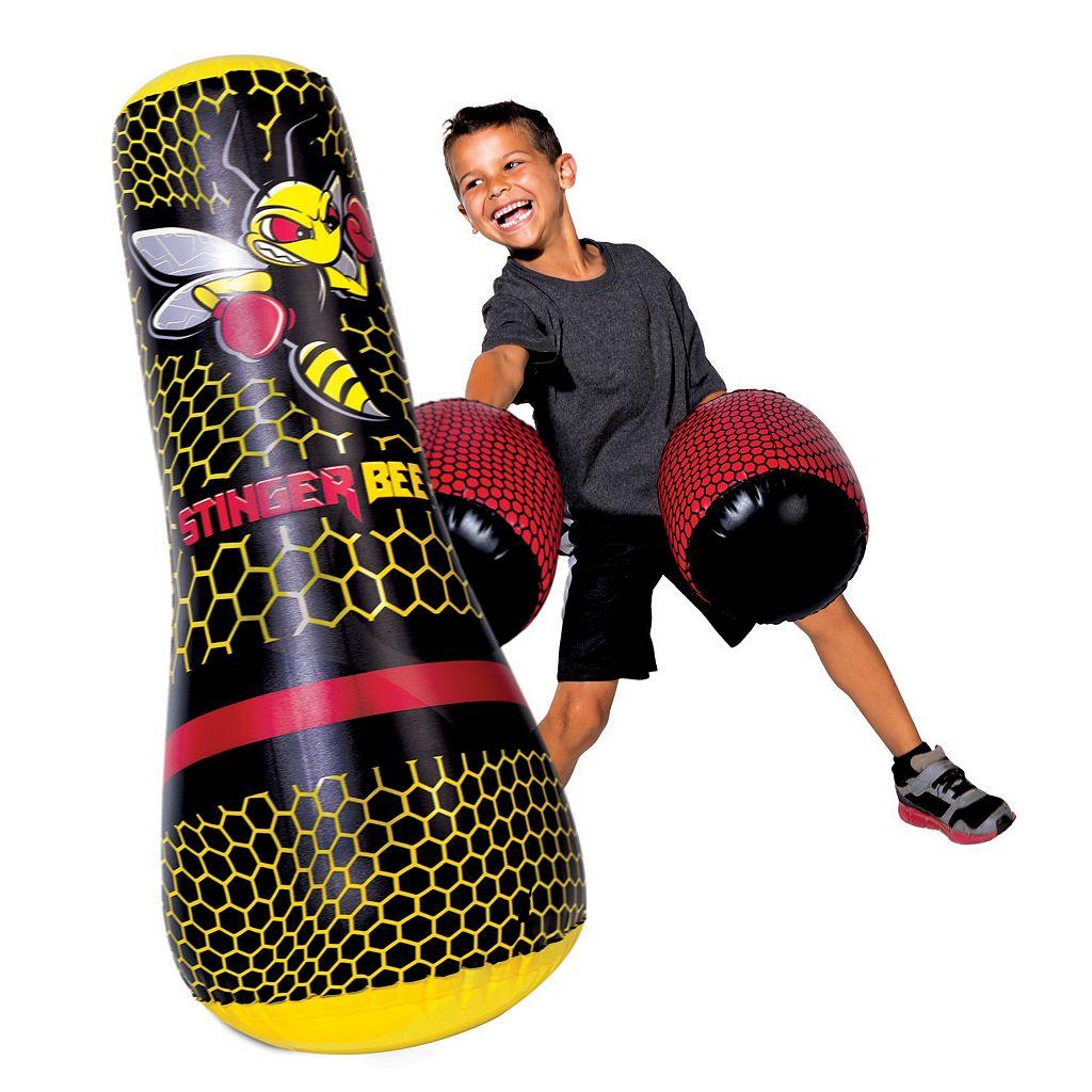 Youth Franklin Sports Stinger Bee Floor Punching Bag & Gloves Set