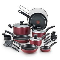 T-Fal Reserve 20-Piece Nonstick Aluminum Cookware Set (Red) + $10 Kohls Cash
