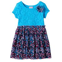 Girls 4-6x Nannette Lace Front Patterned Dress