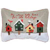 Spencer Home Decor ''No Place Like Home'' Holiday Oblong Throw Pillow