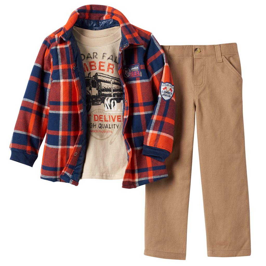 Toddler Boy Boyzwear Plaid Flannel Shirt,