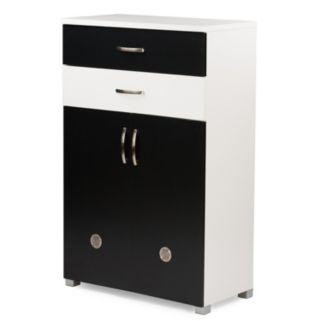 Baxton Studio Heidi Two-Tone Shoe Cabinet