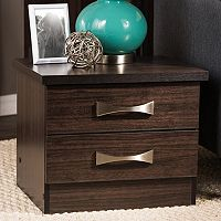Baxton Studio Colburn 2-Drawer Nightstand