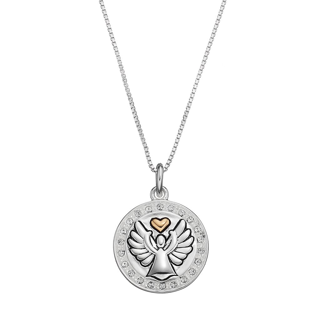 Timeless Sterling Silver Two Tone Crystal