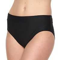 Women's Croft & Barrow® Solid Semi High-Waisted Scoop Bottoms
