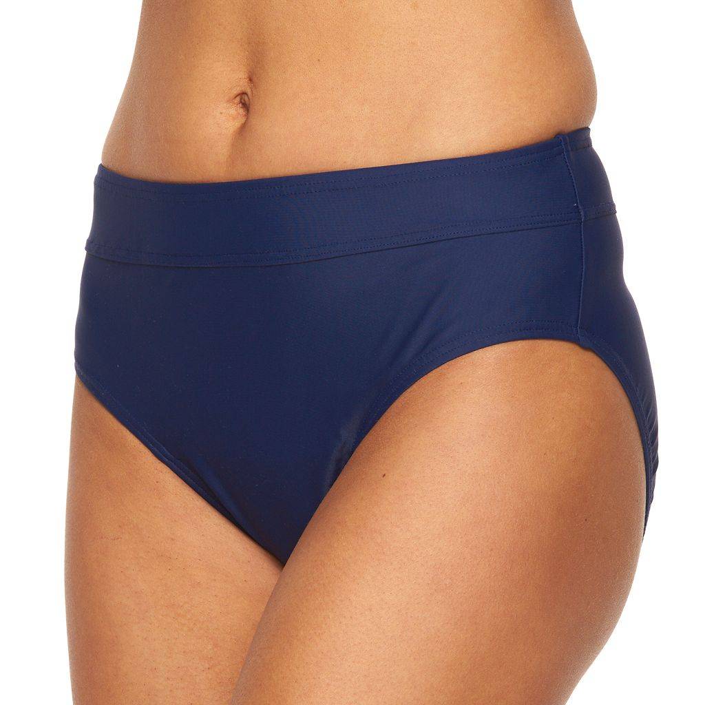 Women's Croft & Barrow® Solid Semi High-Waisted Scoop Bottoms