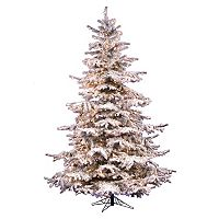 Vickerman 6.5-ft. Pre-Lit Flocked Sierra Artificial Christmas Tree