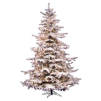 Vickerman 6.5-ft. Pre-Lit Flocked Sierra Artificial Christmas Tree
