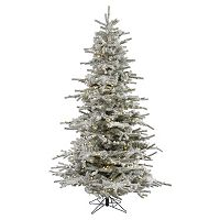 Vickerman 7.5-ft. Warm White Pre-Lit Flocked Sierra Artificial Christmas Tree