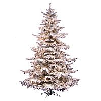 Vickerman 8.5-ft. Pre-Lit Flocked Sierra Artificial Christmas Tree