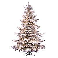 Vickerman 10-ft. Pre-Lit Flocked Sierra Artificial Christmas Tree